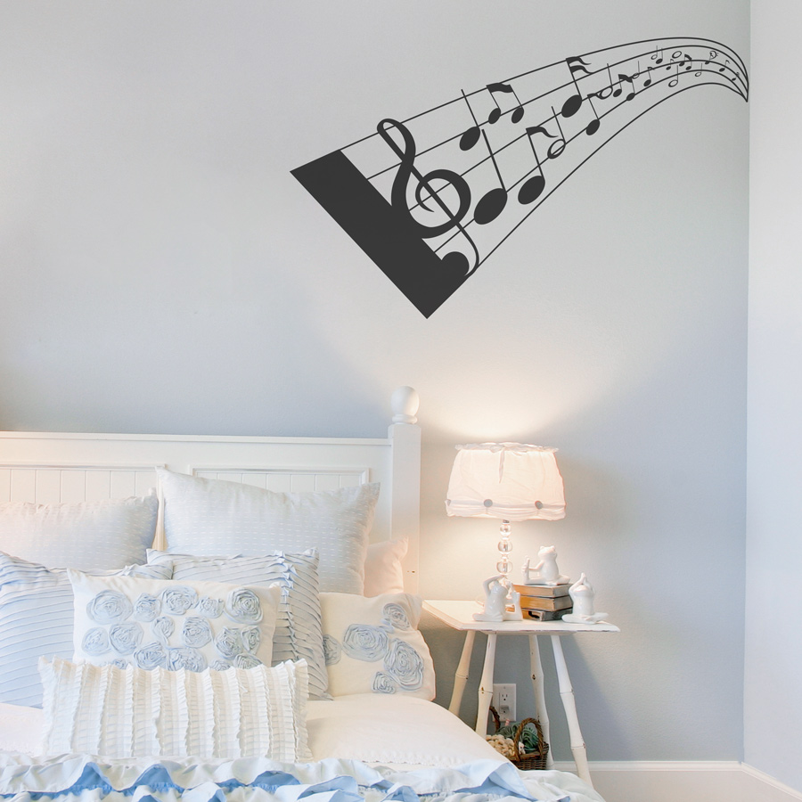3d music notes wall decal