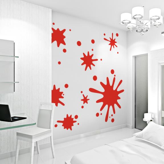 Paint Splatter Wall Art Decals