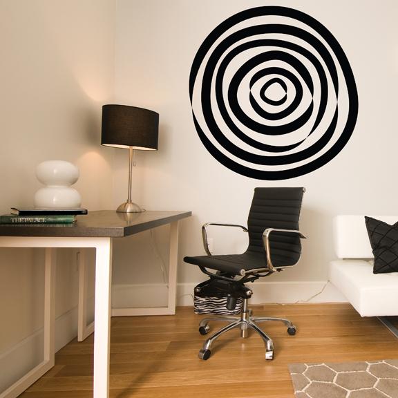 Circle Wall Art abstract circle vinyl wall decal