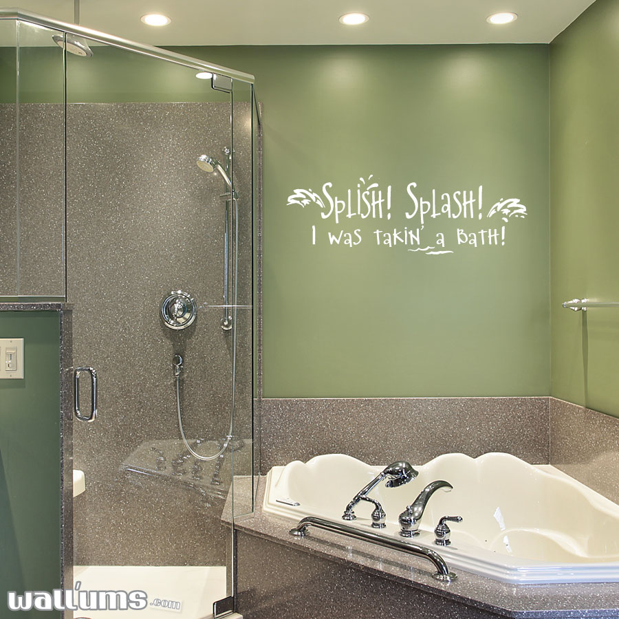 I Was Taking A Bath... Wall Art Decal ...