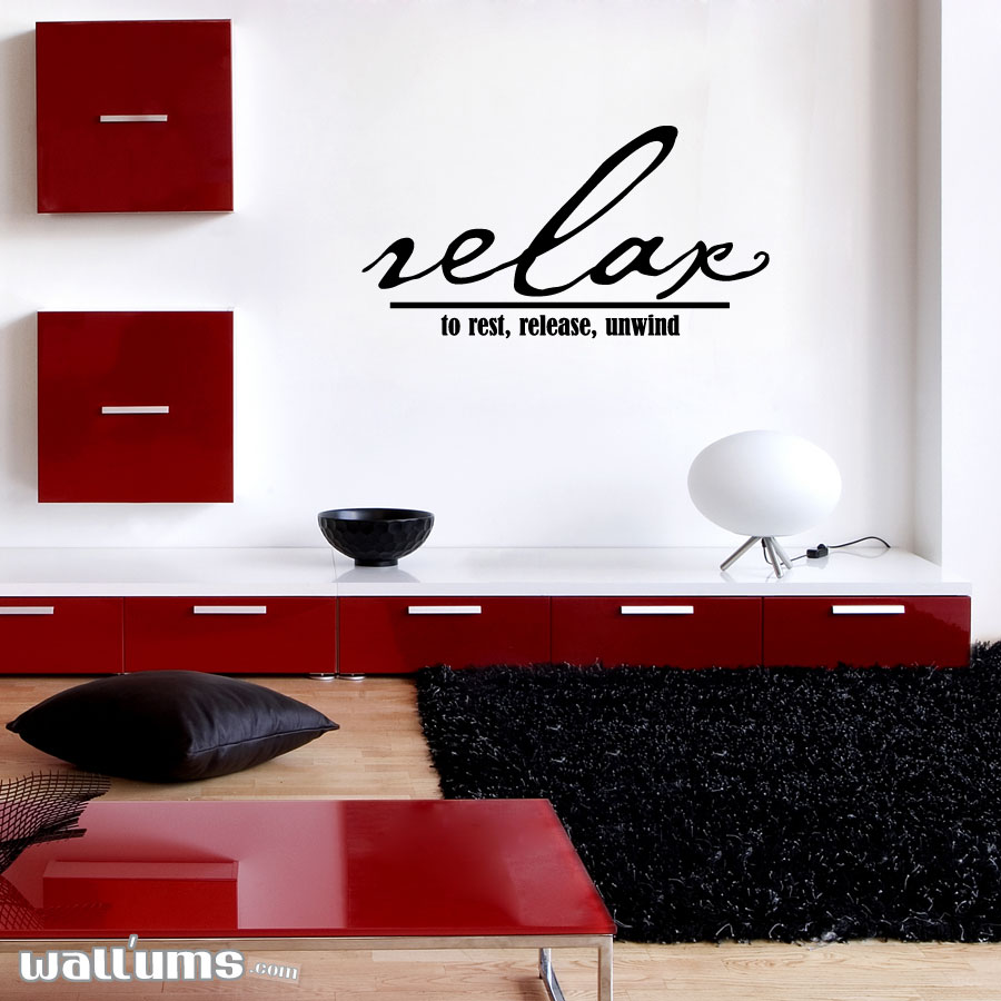 Wall Art Decals relax to rest, release, unwind wall art decals