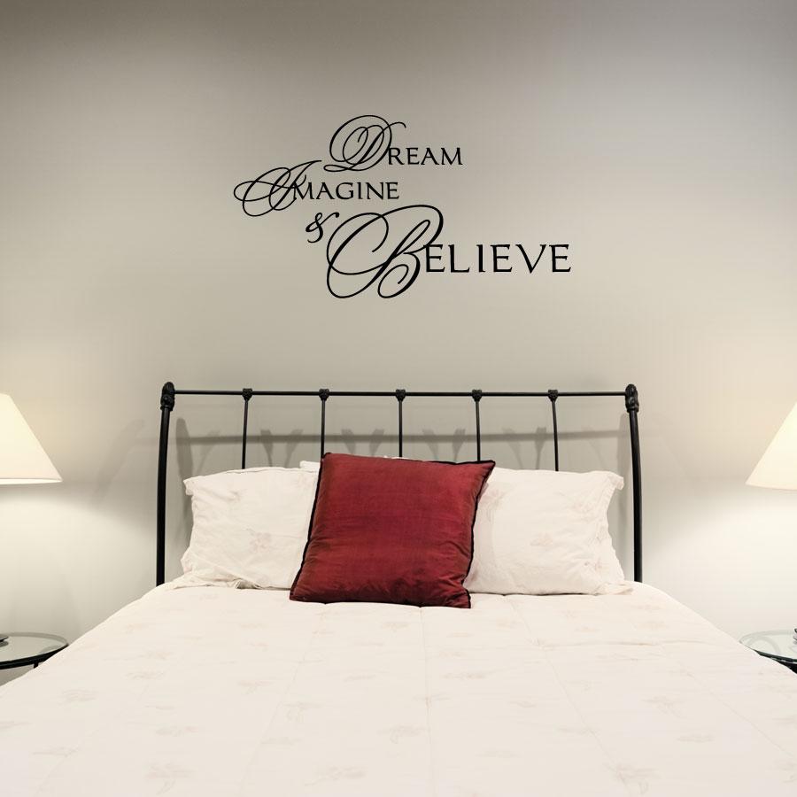 Dream imagine believe wall decal inspirational wall quotes - Inspirational quotes wall decor ...