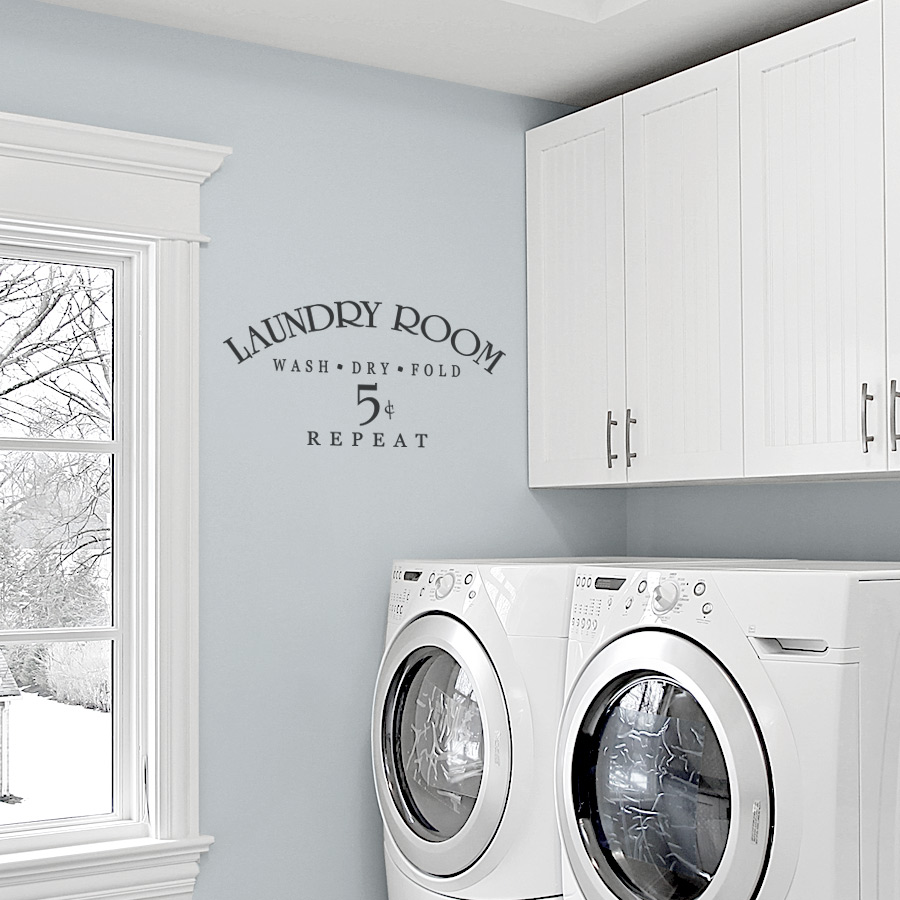 Laundry Room Wall Decor Stickers Adorable Laundry Room Wash Dry Fold Repeat Wall Decals Design Ideas