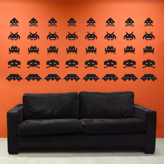 Space invaders wall decal sticker - Space invader wall stickers ...