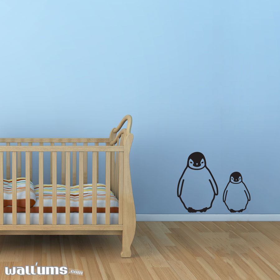 Brother and Sister Penguin Wall Decals ...