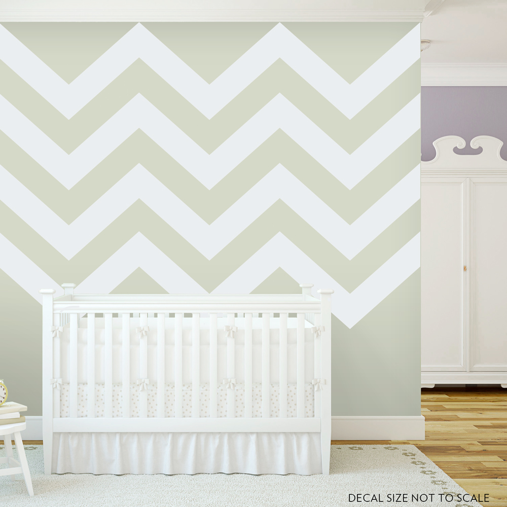 Etonnant Chevron Stripes Style 2 Wall Art Decal ...