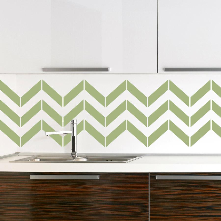 Chevron Stripes Vinyl Wall Decal Sticker - Custom vinyl wall decals for kitchen backsplash