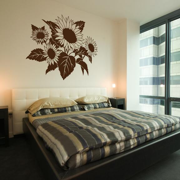 Sunflower wall decal sticker for Sunflower bedroom decor