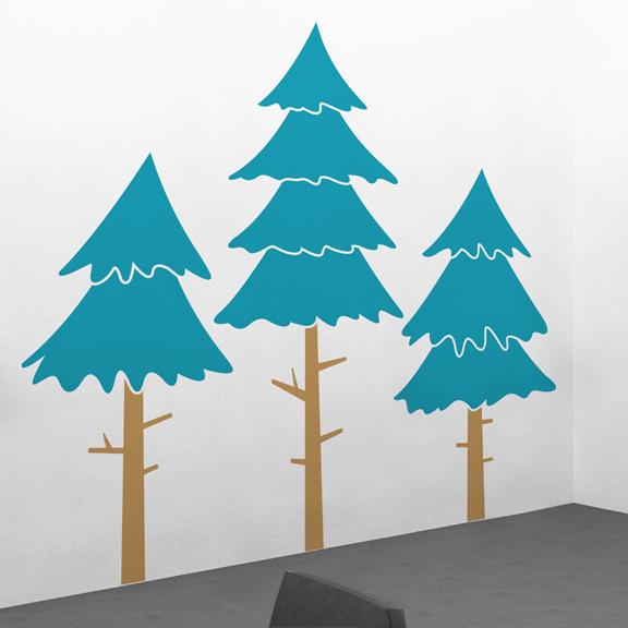 Alpine Pine Tree Wall Decal ... Part 64