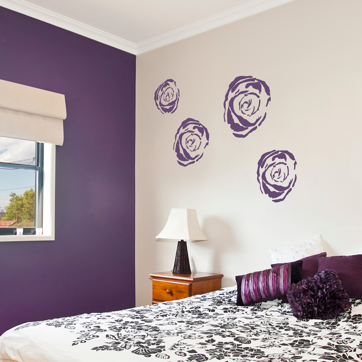 Nature wall decals nature wall stickers wallums page 4 roses wall art decals amipublicfo Image collections