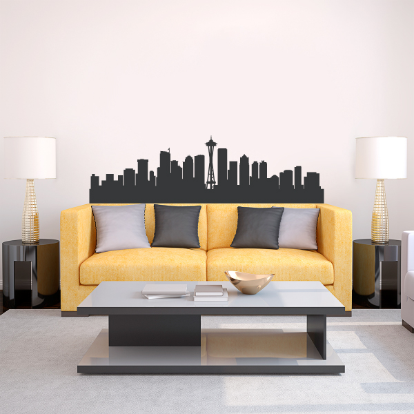 Seattle Wall Art seattle washington skyline vinyl wall decal sticker