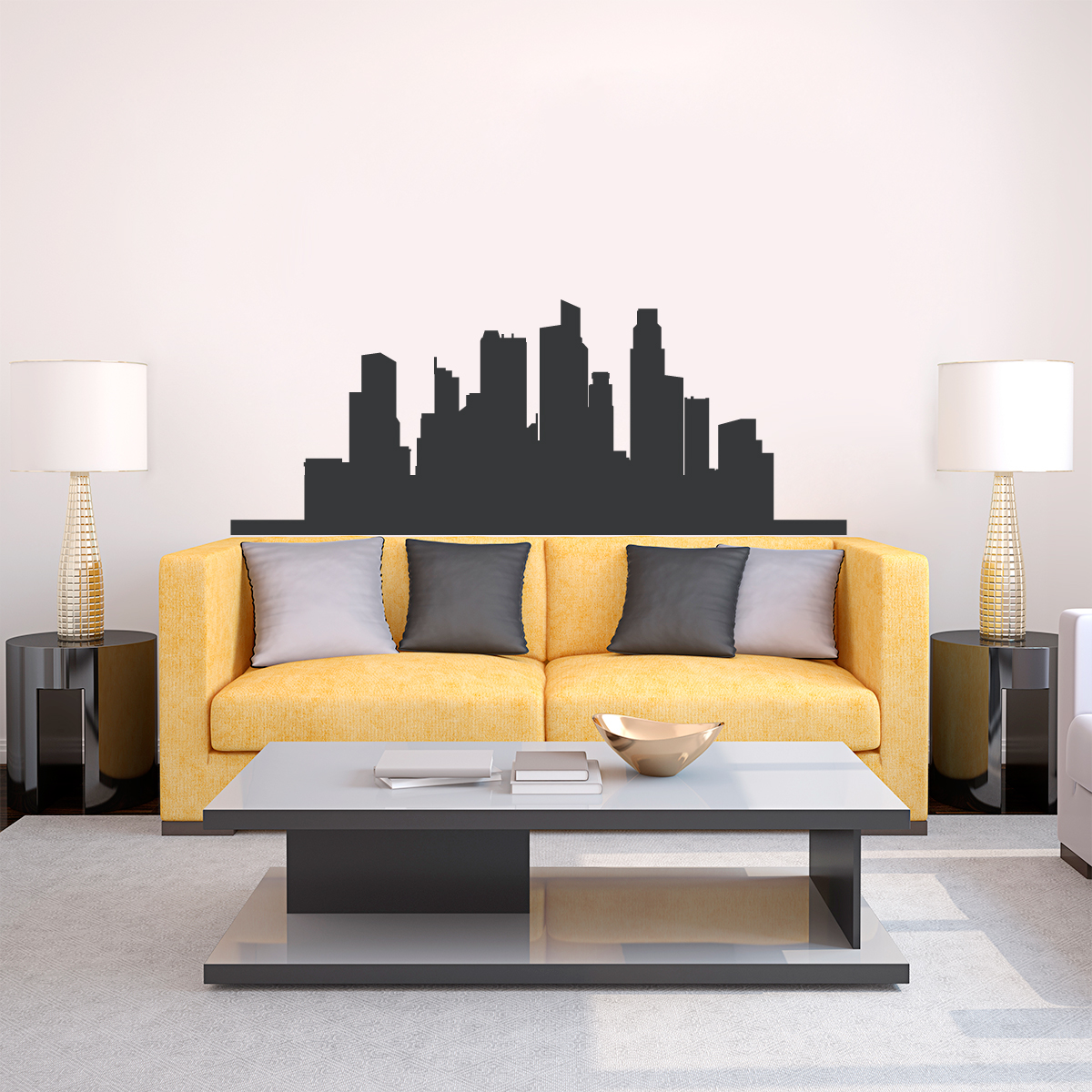 Singapore Skyline Vinyl Wall Decal Sticker - Wall decals singapore