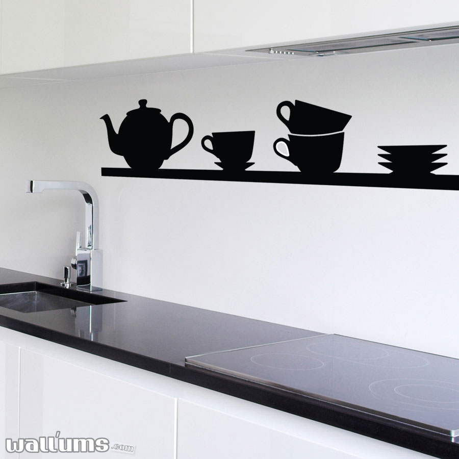 Tea Time Shelf Wall Decal ...