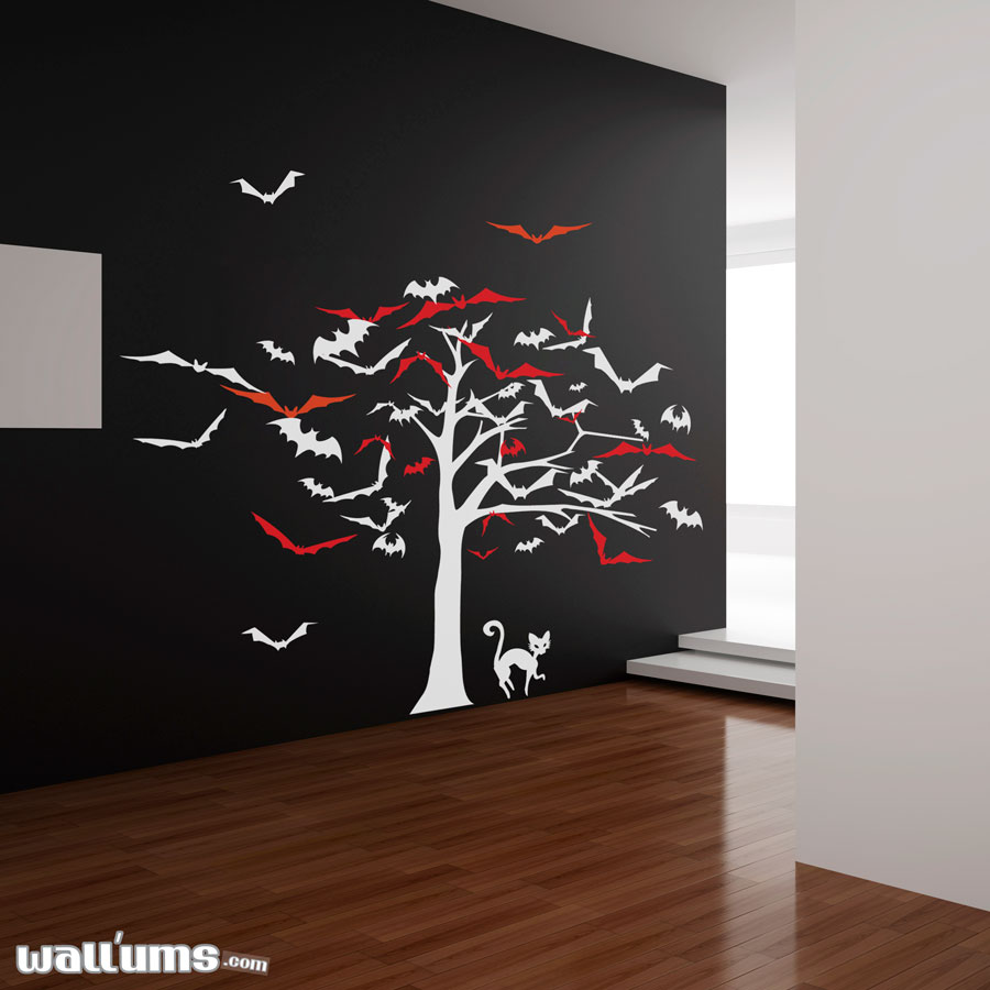 tree of bats wall decal sticker tree of bats wall decal