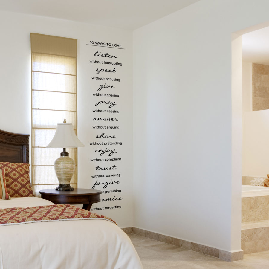 Love Quotes Wall Decals 10 Ways To Love Wall Art Decal