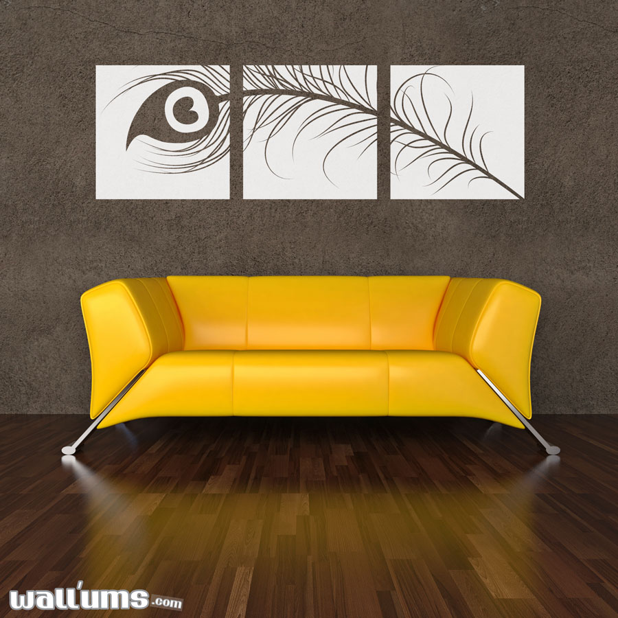 28 peacock feather wall sticker peacock feather wall decal peacock feather wall sticker peacock feather triptych wall decal sticker