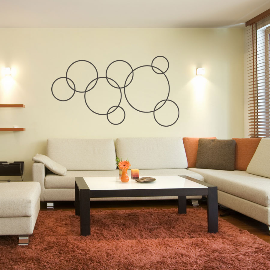 Beau Linked Circles Wall Decal