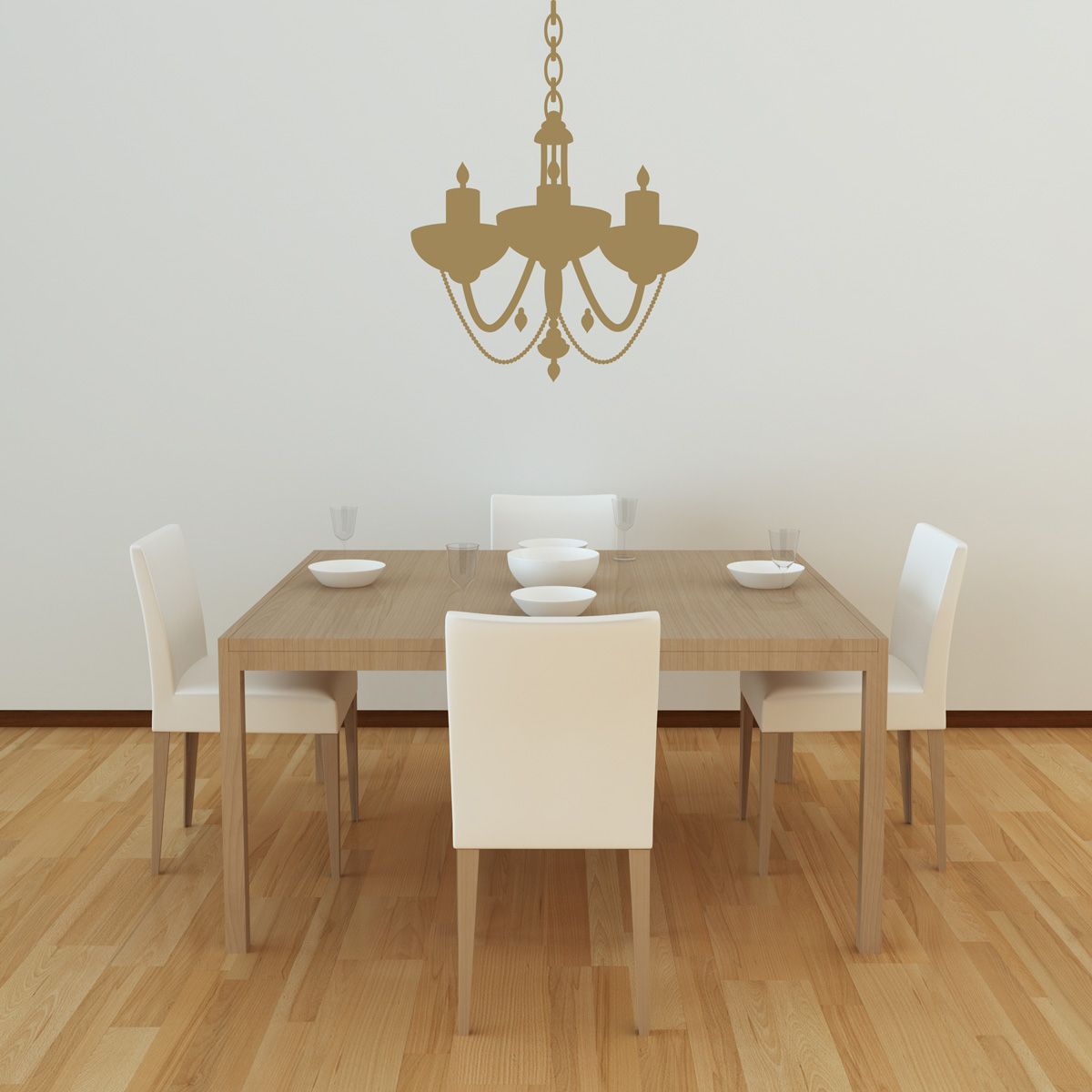 Chandelier wall decal style 6 for Dining room wall decals