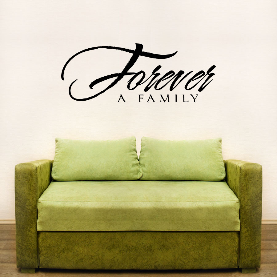 Forever A Family Wall Art Decals