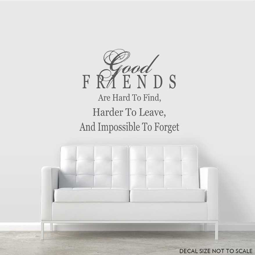 Good Friends Are Hard To Find... Wall Art Decal ...