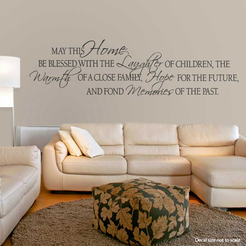 Wall Art Decal may this home be blessed with the wall art decals