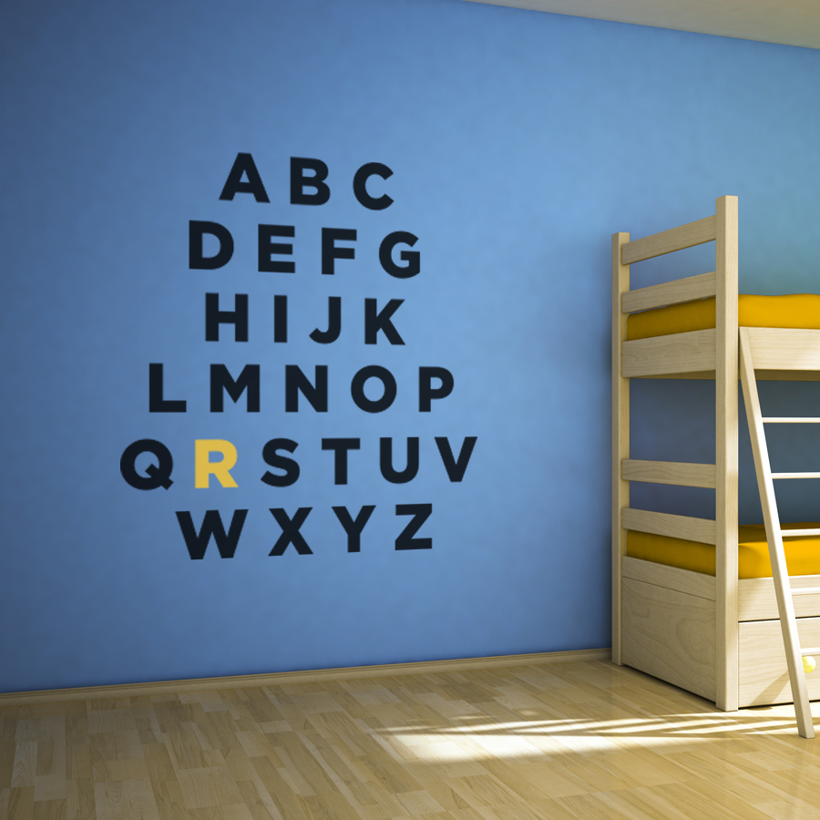 Abc wall decals roselawnlutheran custom alphabet wall art decal amipublicfo Image collections