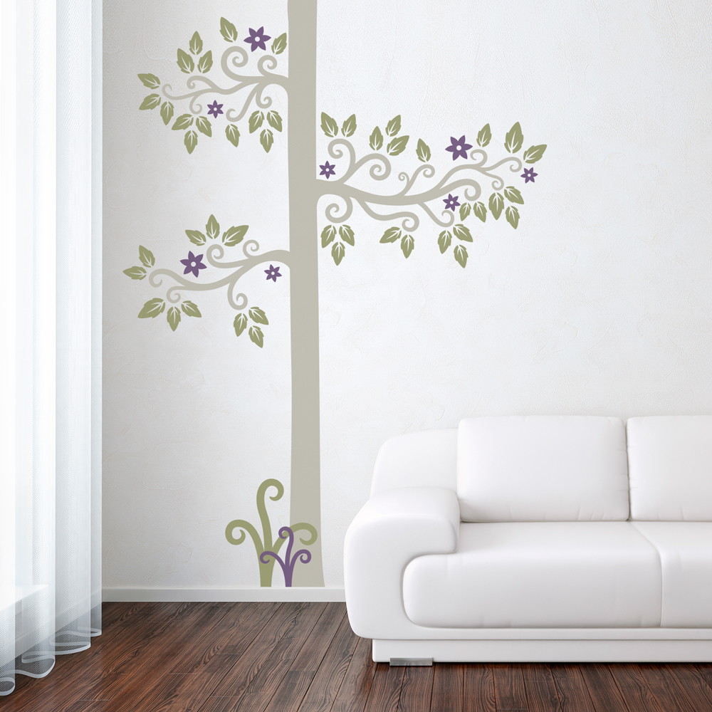 Nature wall decals nature wall stickers wallums page 8 blossom swirl tree wall decal amipublicfo Image collections
