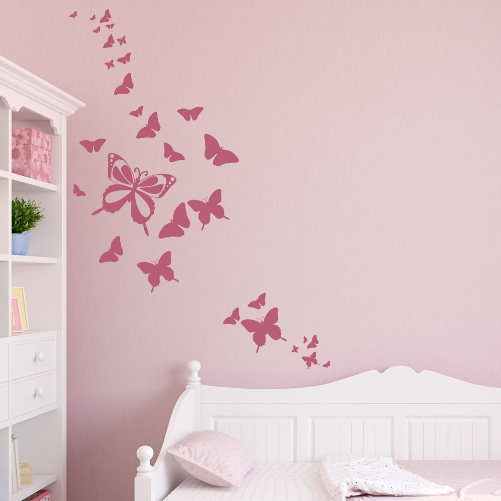 Butterfly family wall decal - Stickers pour chambre fille ...