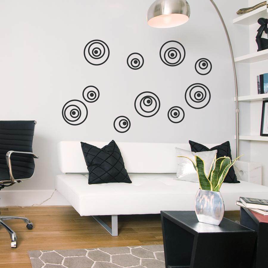 Crazy Eyes Circles Wall Decal - Wall decals eyes