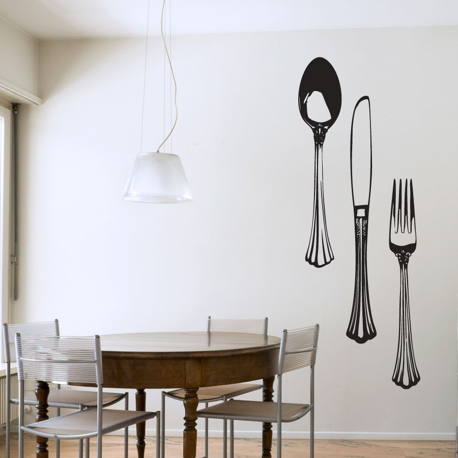Dining Cutlery Set Wall Art Decal