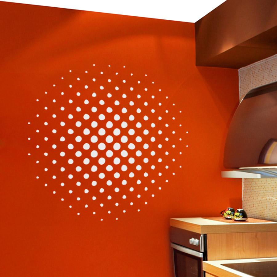 Halftone Circle Wall Art Decal ...