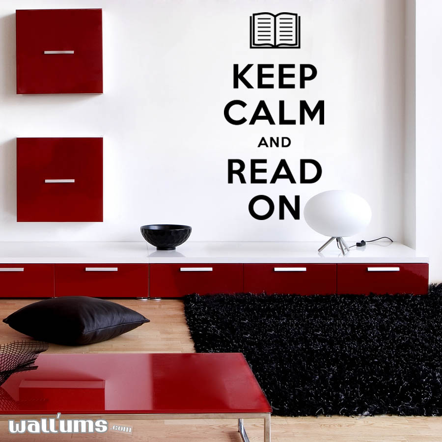 Keep Calm And Read On Wall Quote Decal