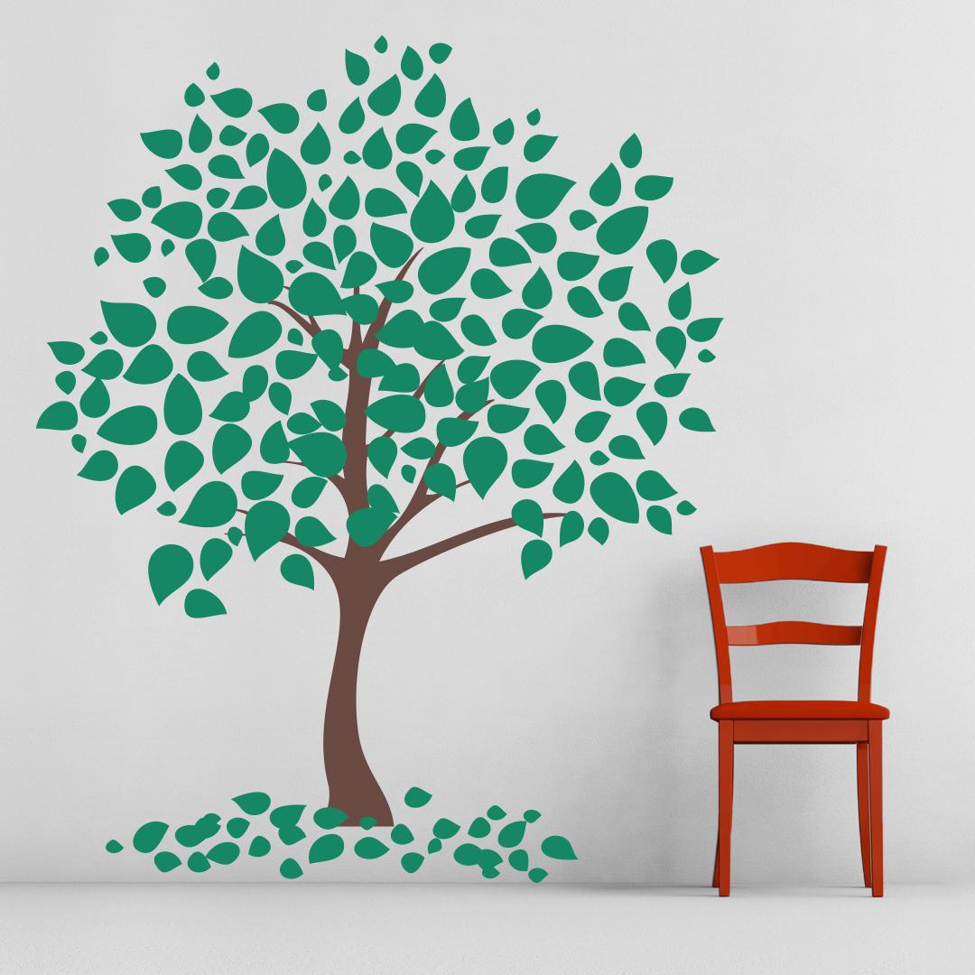 Wall Decor And Tree : Leafy tree wall art decal