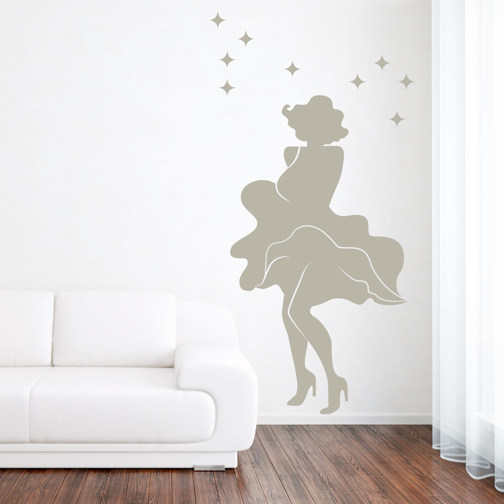 Marilyn Monroe White Dress Wall Decal Part 68