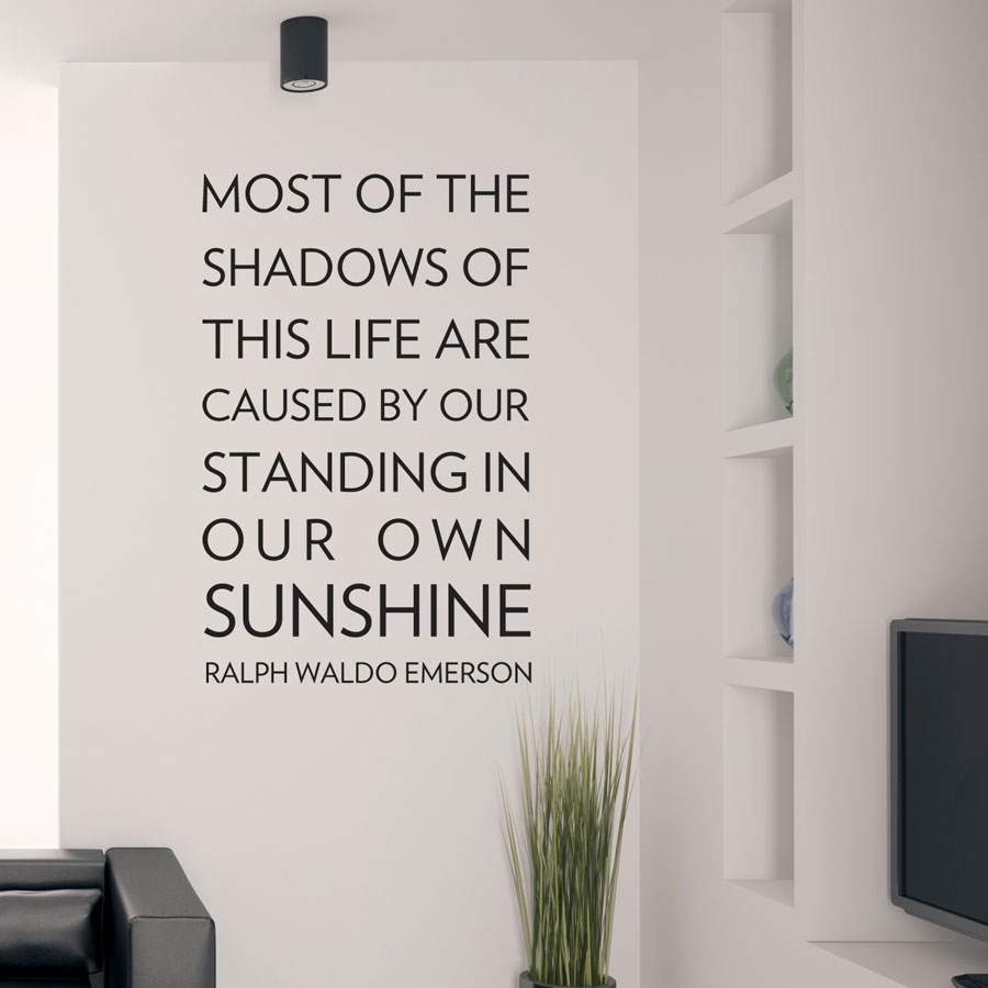 Life Wall Quotes Glamorous Most Of The Shadows Wall Decal Sticker