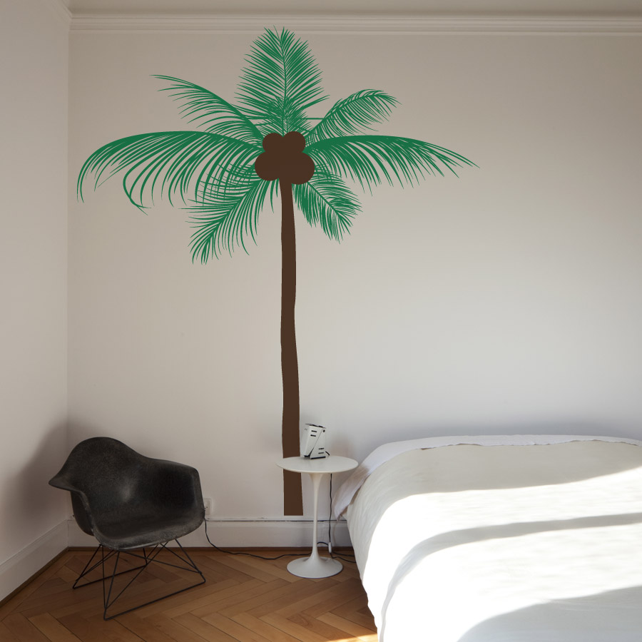 palm tree wall decal 2017 grasscloth wallpaper. Black Bedroom Furniture Sets. Home Design Ideas