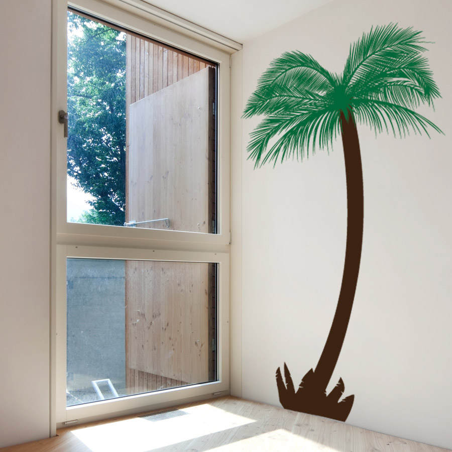 Feather Palm Tree Wall Decal ...