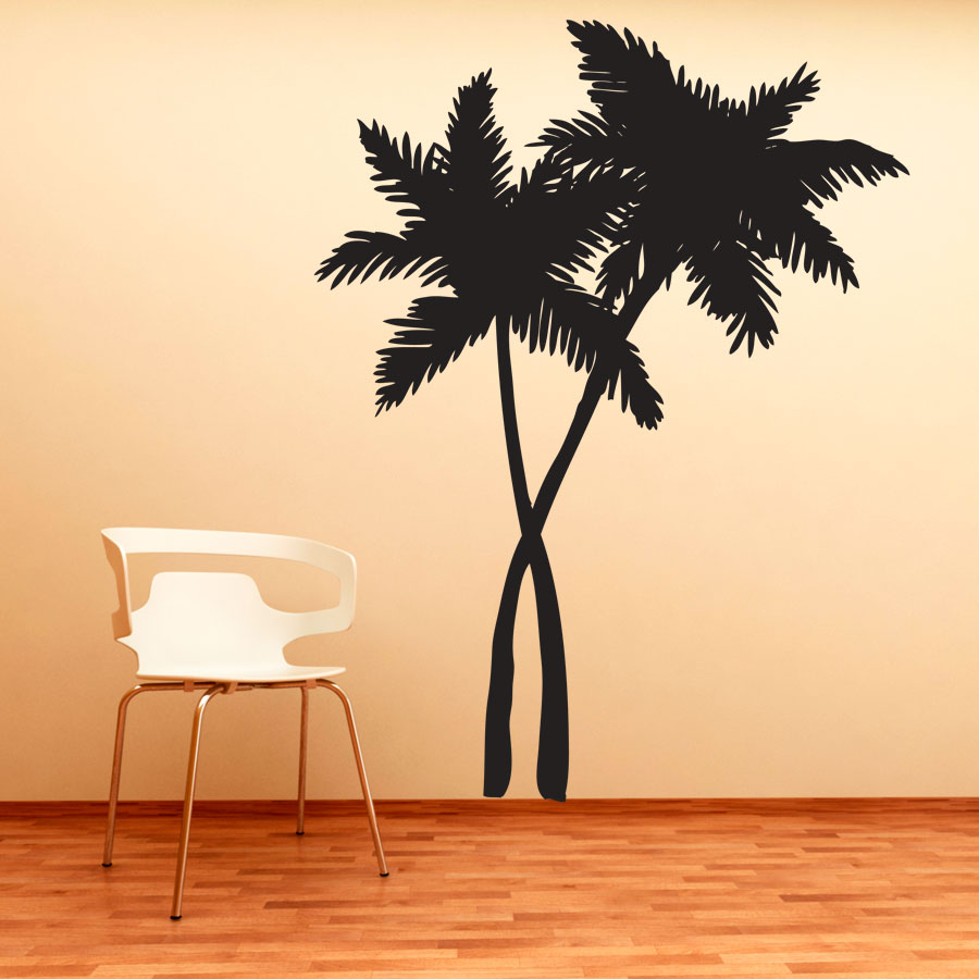 Wall Art Swaying Palm Trees Wall Art Decal