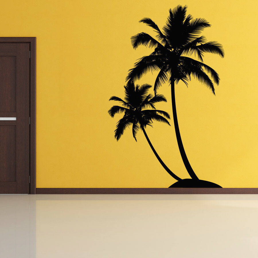 Exceptional Dual Palm Tree Island Wall Decal ... Images