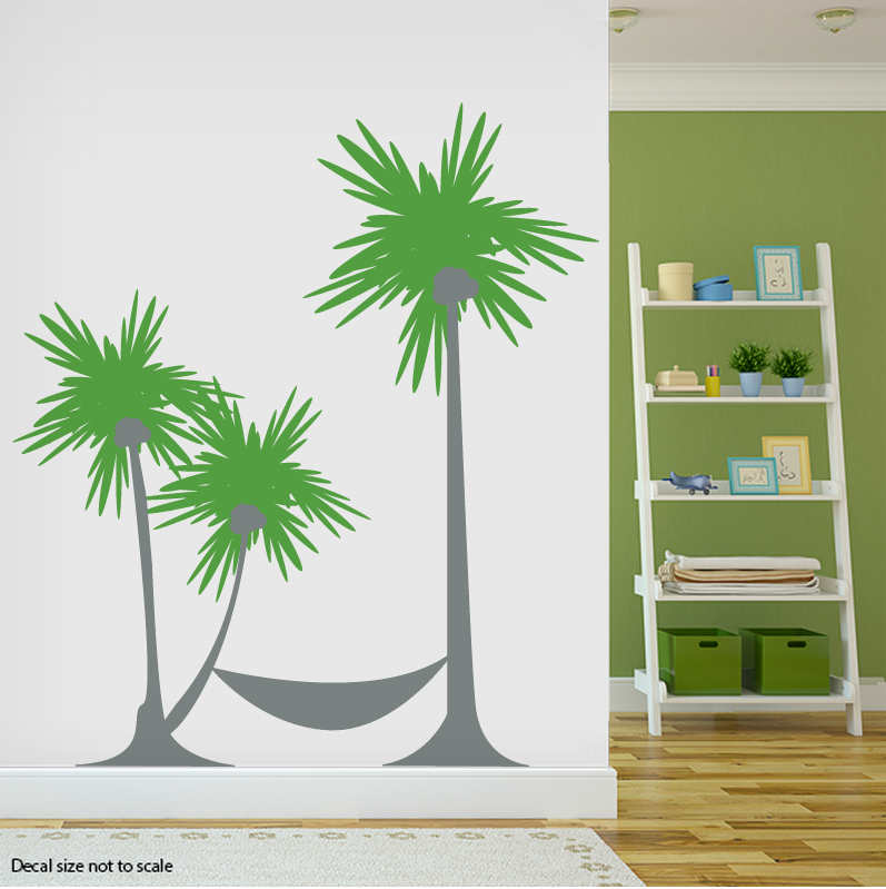 Great Palm Tree Hammock Wall Decal ... Part 21