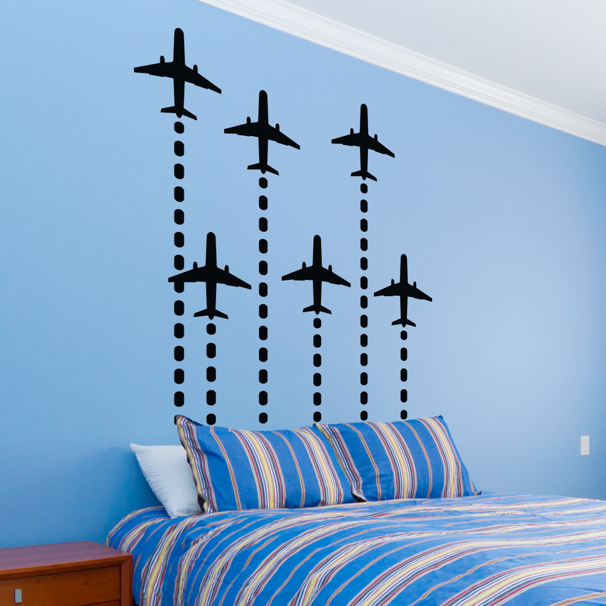 Beau Rocket Planes Wall Decal