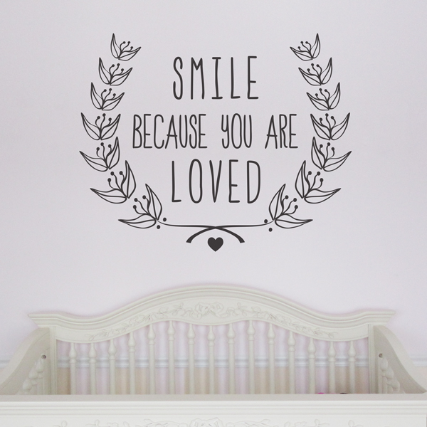Smile Because You Are Loved Wall Art