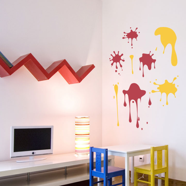 Splash Colorful Room Wall: Splash Of Colour Wall Decalsl Stickers