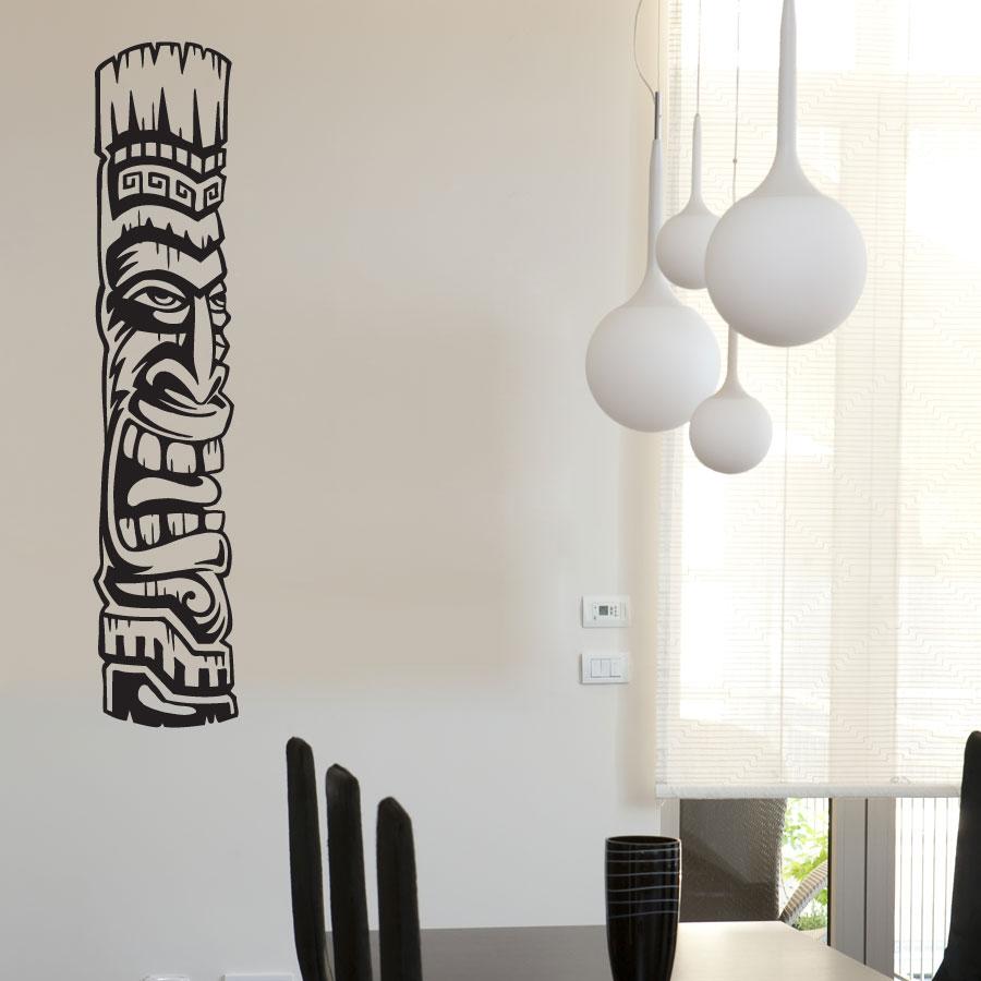 Tiki Totem 2 Vinyl Wall Decal Sticker