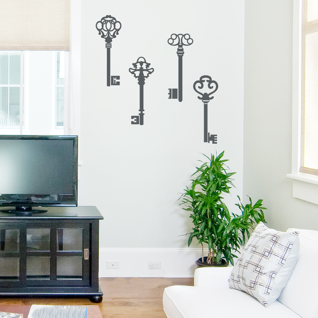 Old Keys Wall Decal - Vintage wall decals