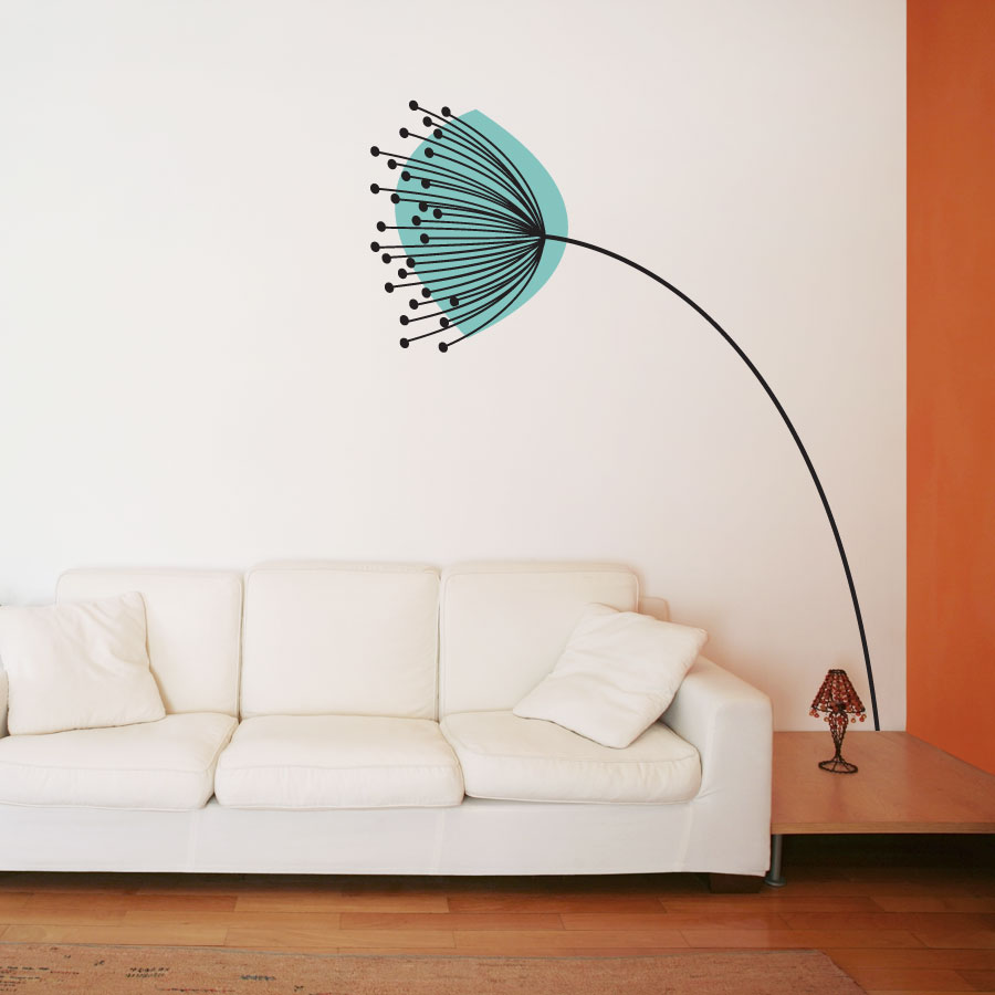 Dandelion in the wind wall decal sticker for Dandelion wall mural