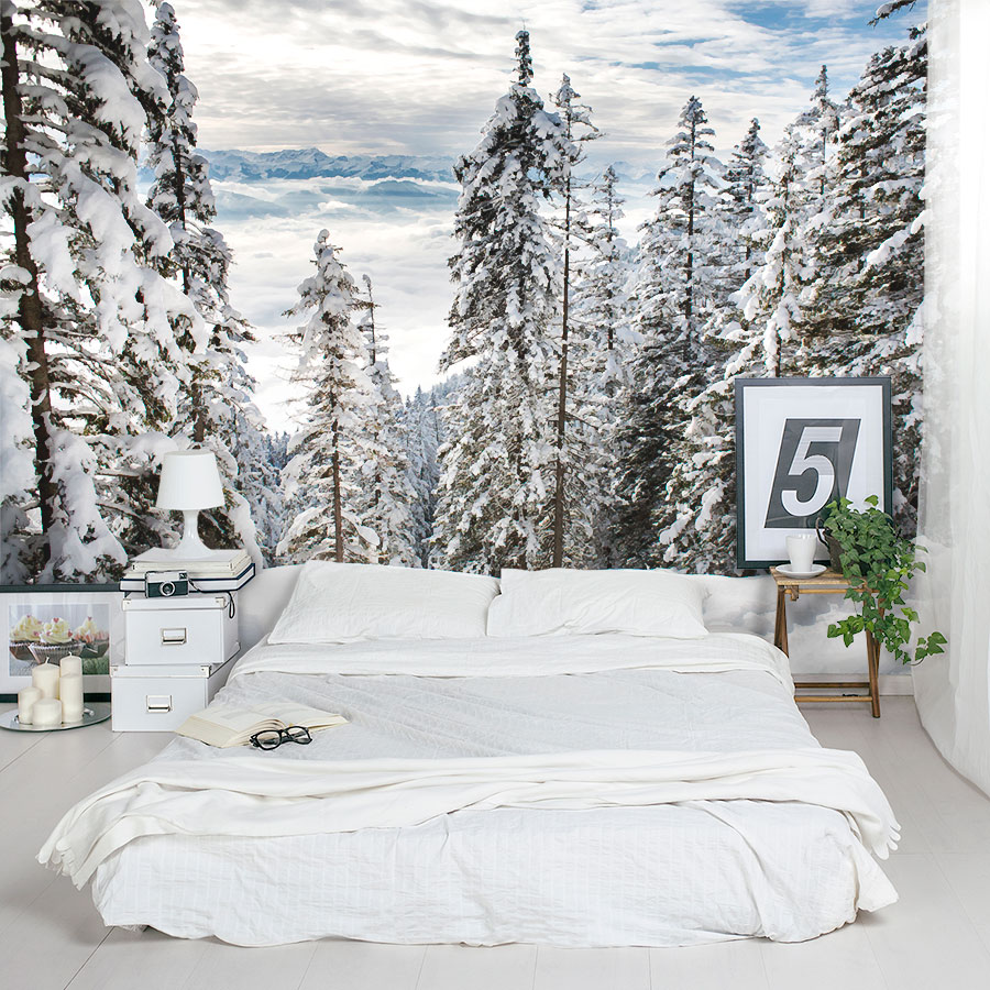 Alps Winter Forest Wall Mural Part 90