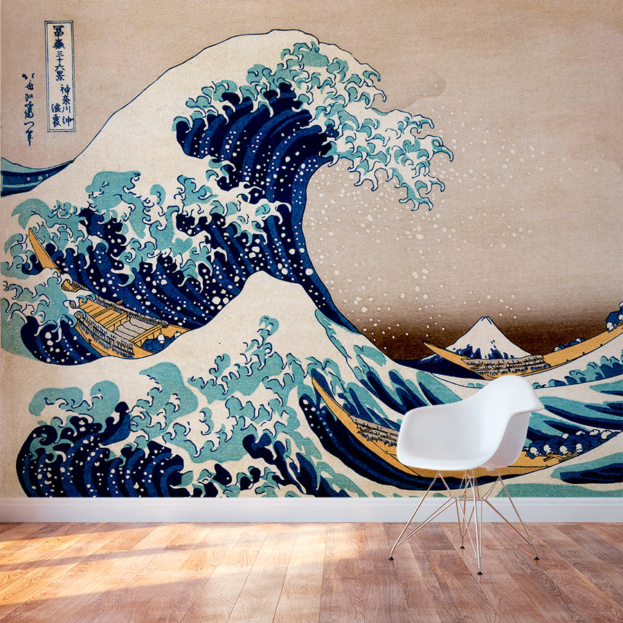 Great wave wall mural amipublicfo Choice Image