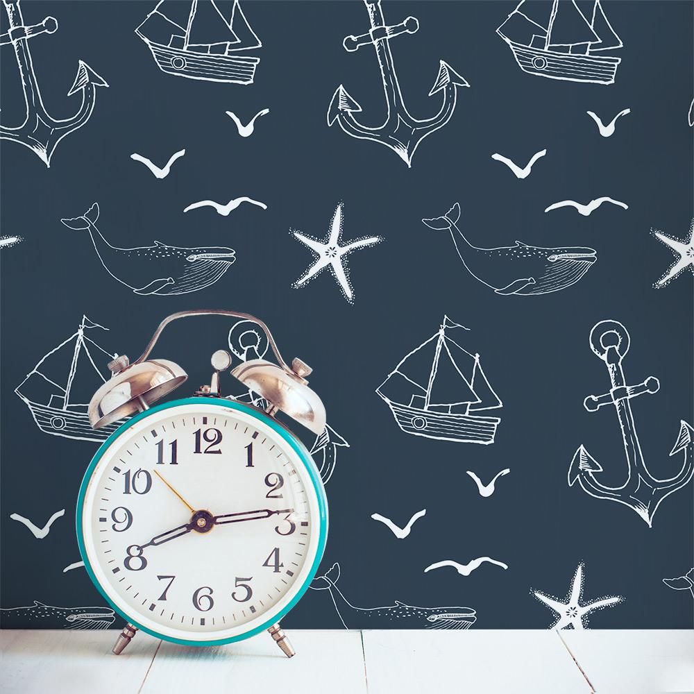 Removable Wallpaper Tiles nautical seas removable wallpaper tile