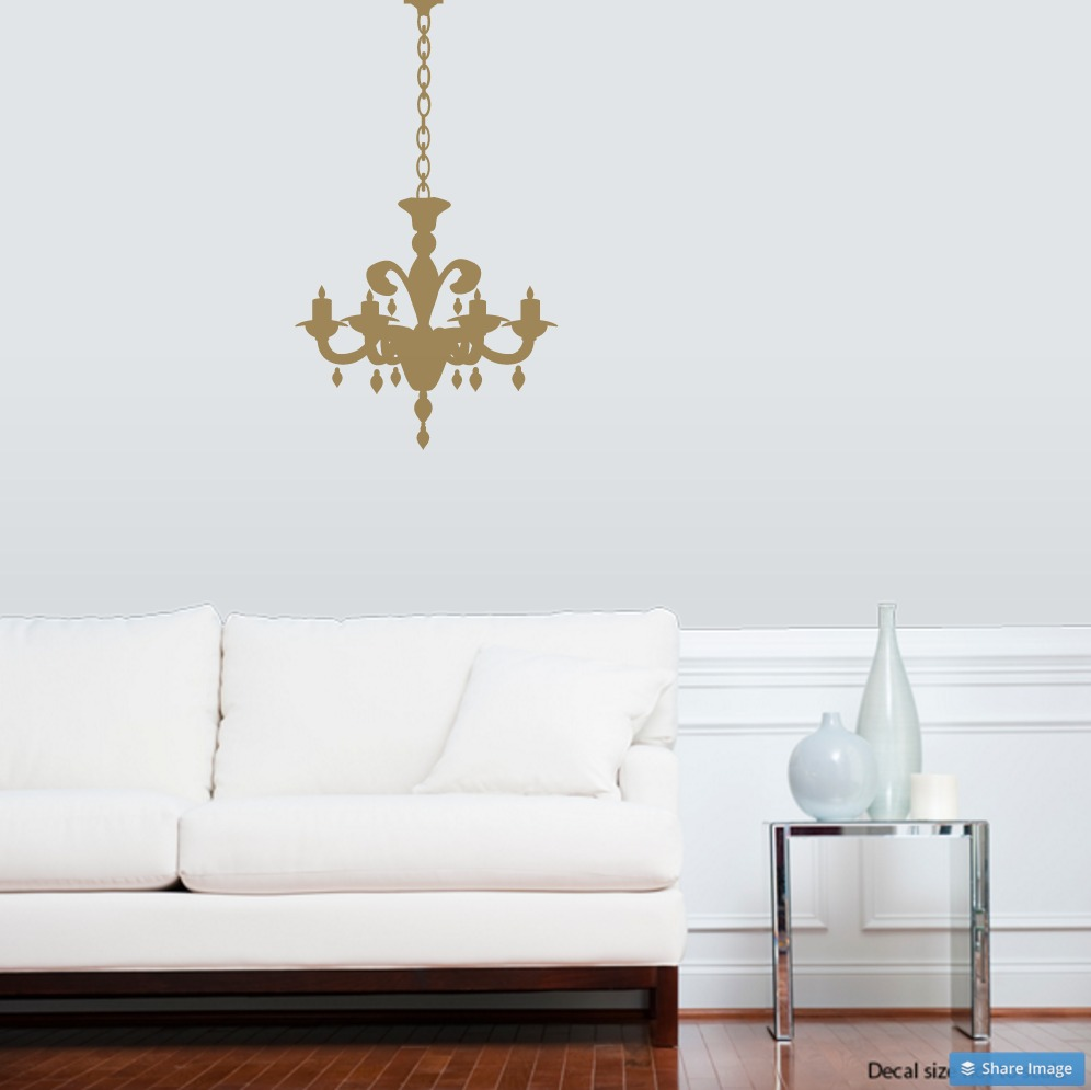 Exceptionnel Chandelier Wall Decal · Chandelier Extras